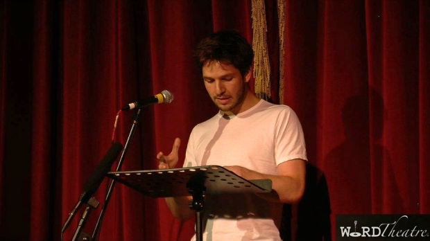 Damien Molony, Chatsworth House. 11 July 2012, reading 'St. Dismas' by Dan Chaon, photo credit WordTheatre