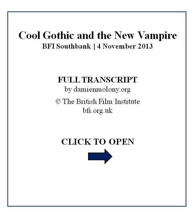 BFI Cool Gothic transcript cover