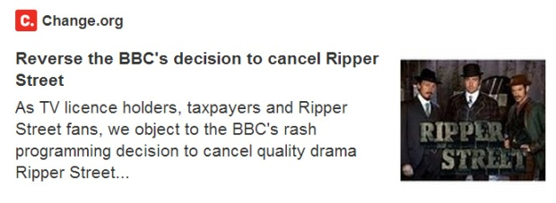 Ripper Street Petition Revers Decision