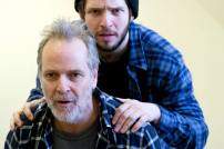 Damien Molony and William Gaminara, 'The Body of an American' rehearsal. Photo credit © Bill Knight, the Gate Theatre