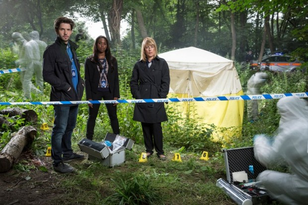 Damien Molony, Clare-Hope Ashitey and Fay Ripley, Suspects Series 2. (c) Channel 5