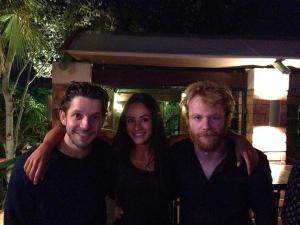 Damien, Brian Gleeson, Arifa Bseiso behind the scenes of 'Tiger Raid'. Photo credit Arifa bseiso