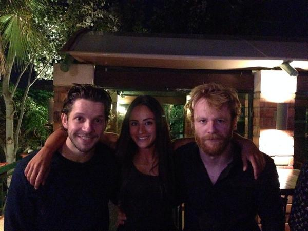 Damien, Brian Gleeson, Arifa Bseiso during filming 'Tiger Raid'. Photo credit Arifa Bseiso