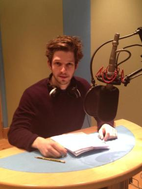 Damien recording 'Me and the Devil', BBC Radio 4. © Heather Larmour