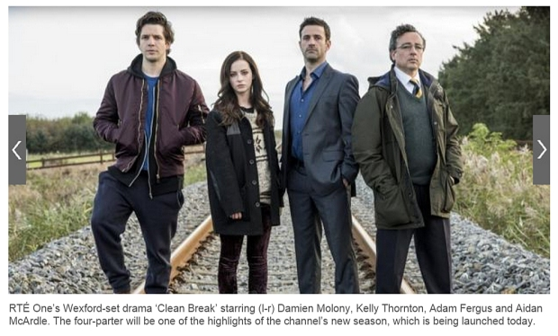 Damien Molony, Kelly Thornton, Adam Fergus, Aidan McArdle, Clean Break RTE