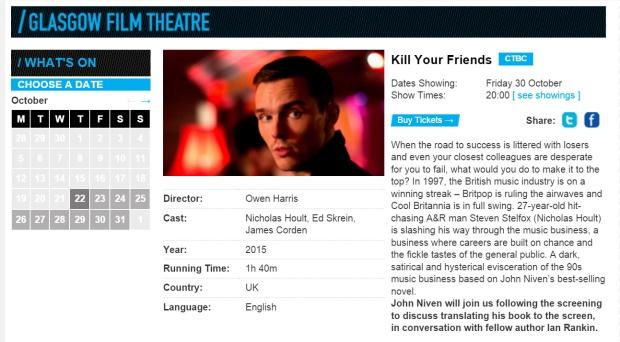 Kill Your Friends Glasgow