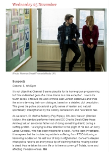 suspects Series 4 episode 1 Telegraph