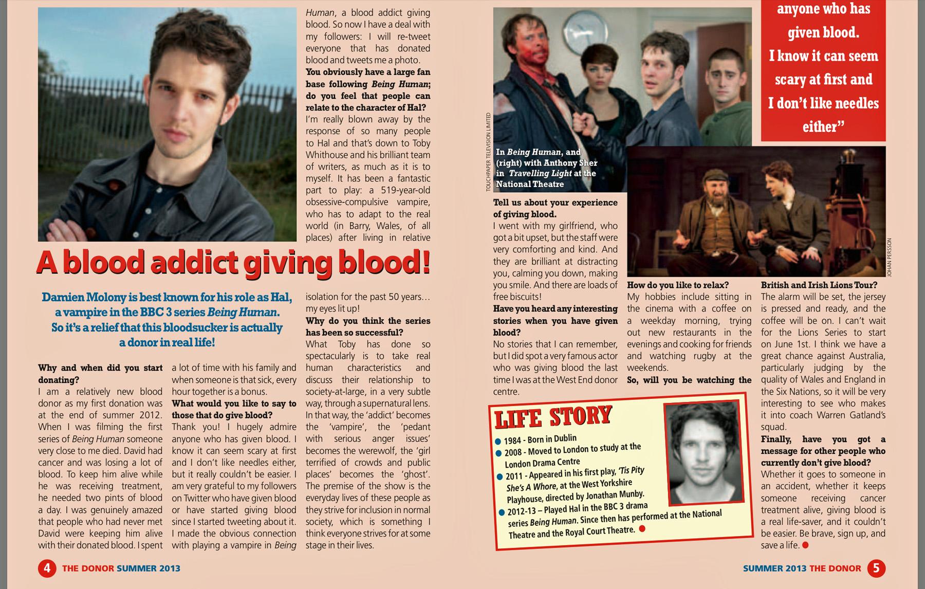 Blood Donor Magazine 2013