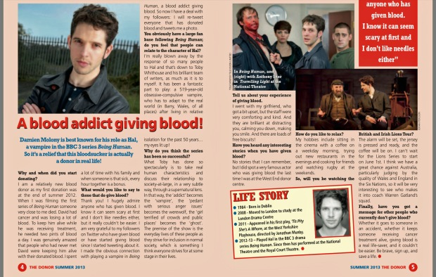 Blood Donor Magazine 2013