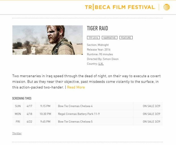 Tiger Raid Tribeca Film Guide