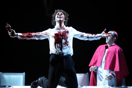 Damien Molony as Giovanni in 'Tis Pity She's A Whore, West Yorkshire Playhouse © Ellie Kurttz