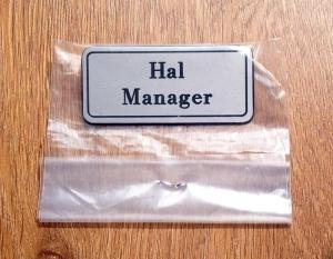 Hal Manager Badge