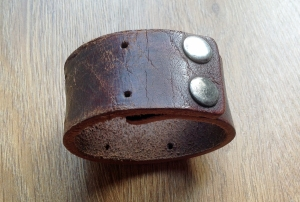 Paddy's leather cuff bangle, worn by Damien, Tiger Raid