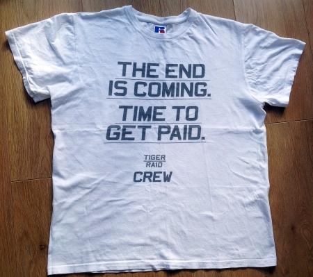 Damien's Tiger Raid wrap T-Shirt