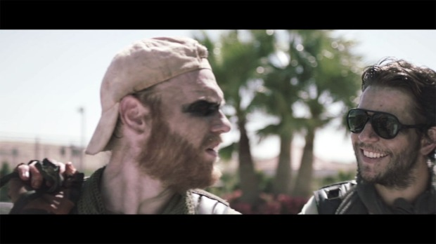 Brian Gleeson (Joe) and Damien (Paddy) in Tiger Raid deleted scene 'Semtex'