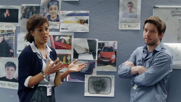 A Being Human reunion, Damien and Lenora Crichlow in Suspects Series 5